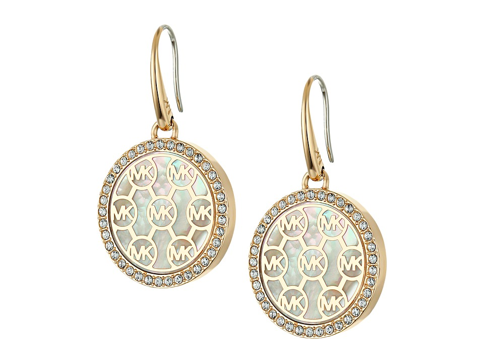 Michael Kors - Drop Earrings (Gold/Mother-of-Pearl/Clear) Earring