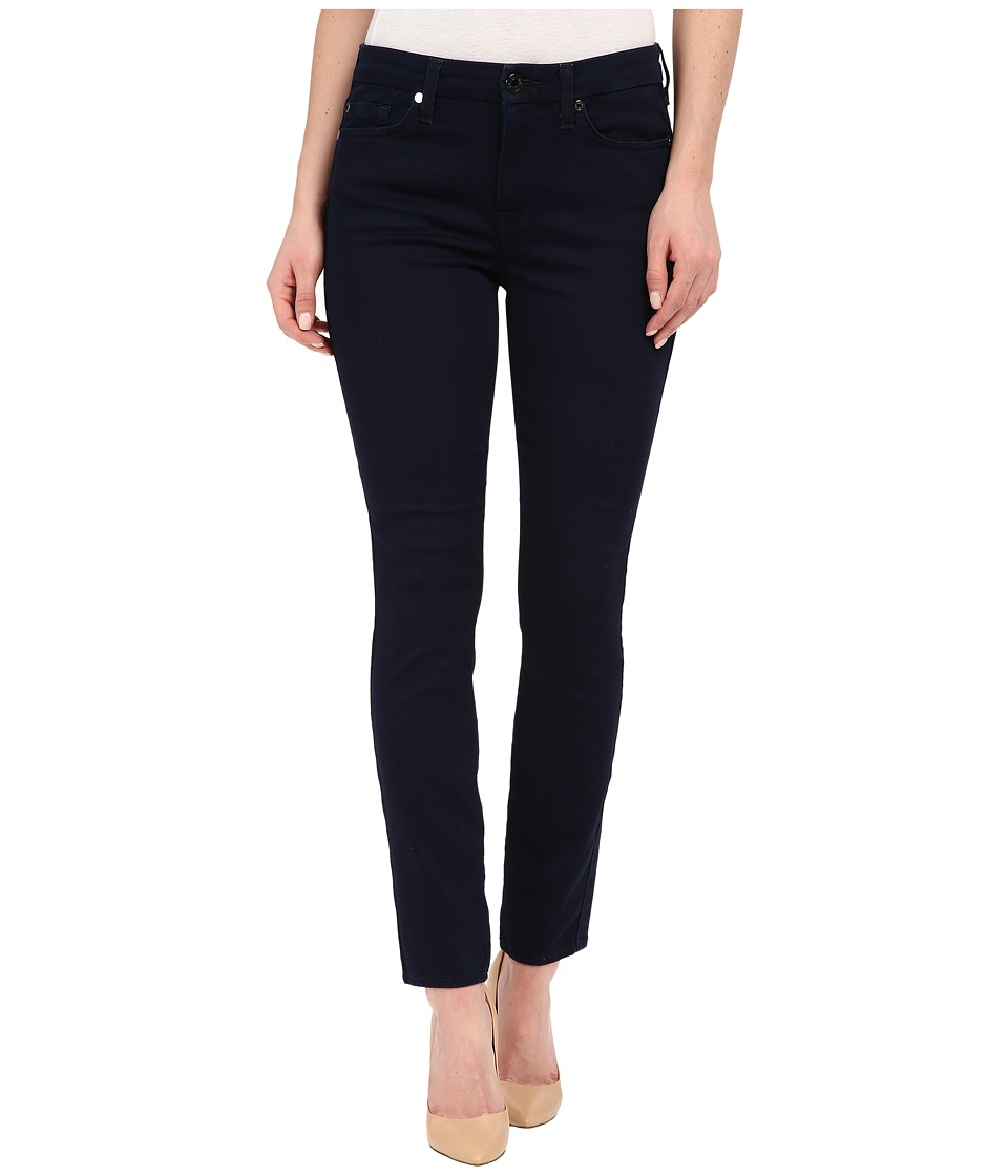 7 For All Mankind - The Ankle Skinny w/ Contour Waistband in Featherweight Rich Blue (Featherweight Rich Blue) Women's Jeans