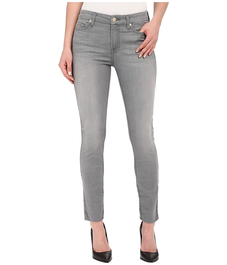 7 For All Mankind - The Ankle Skinny in Featherweight Grey (Featherweight Grey) Women's Jeans