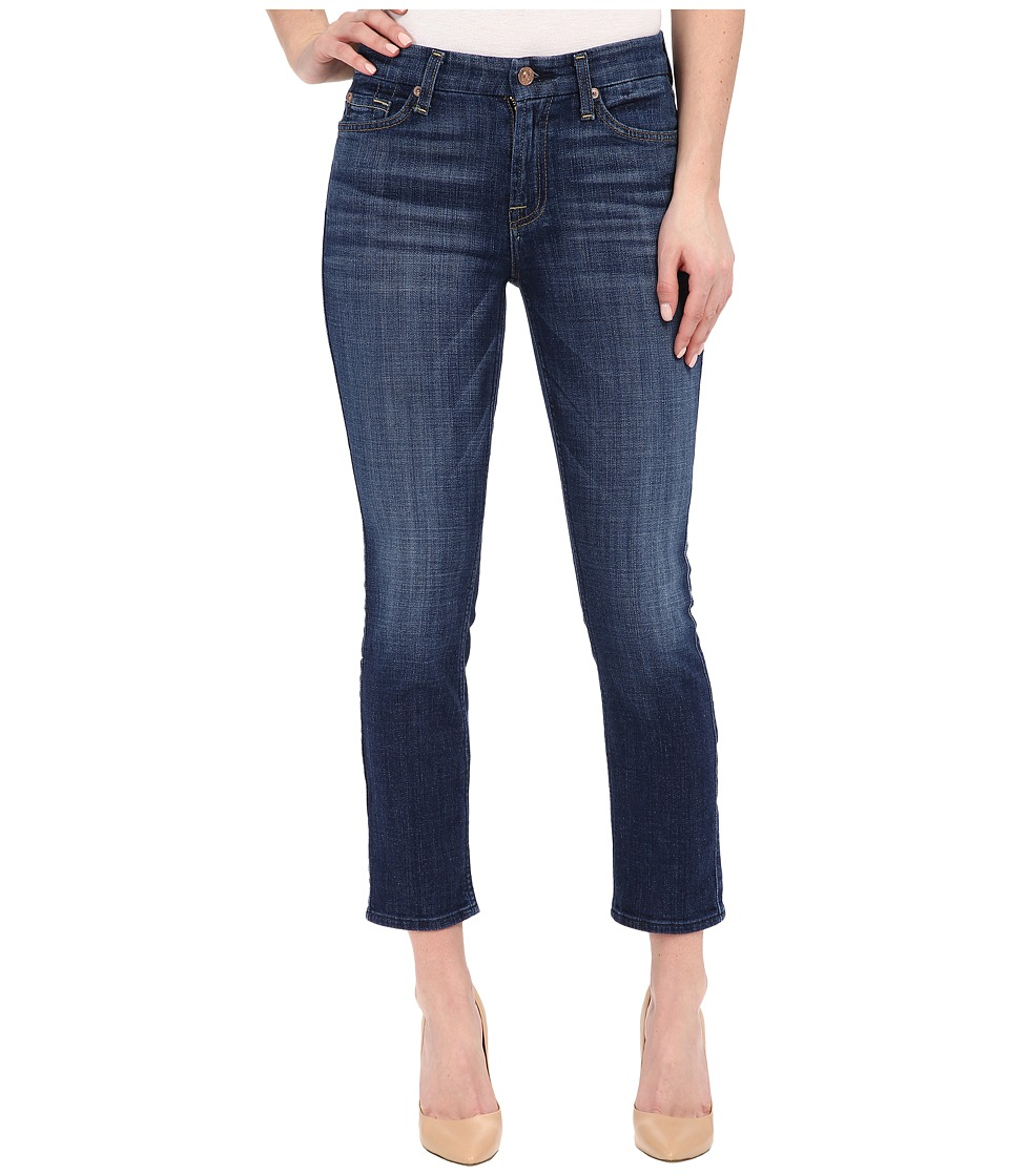 7 For All Mankind - Kimmie Crop in Brilliant Blue Broken Twill (Brilliant Blue Broken Twill) Women's Jeans