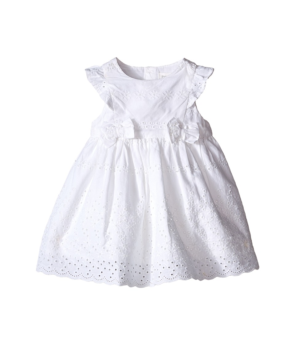 Pumpkin Patch Kids - Broderie Anglaise Dress (Infant) (Clean White) Girl's Dress