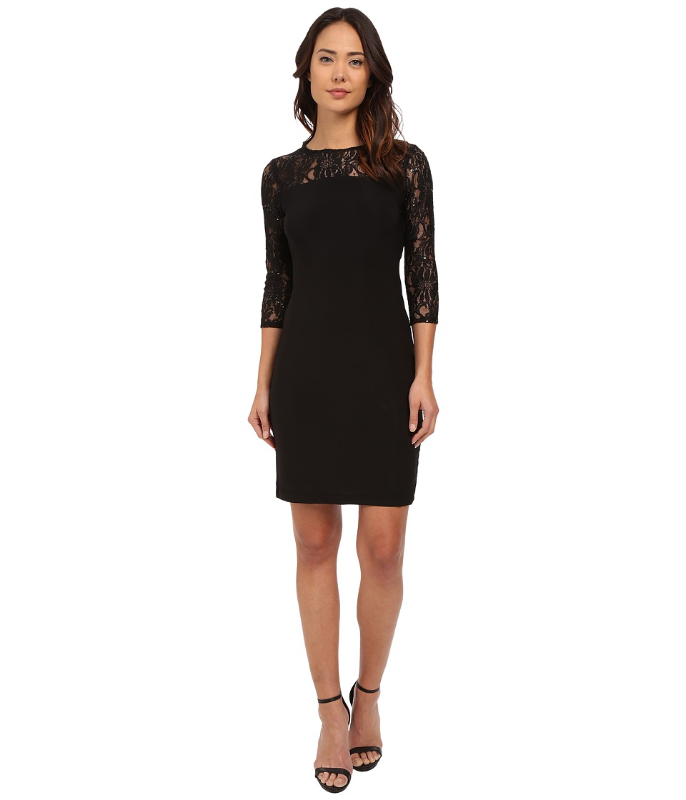 rsvp - Messina Sequin Dress (Black) Women's Dress