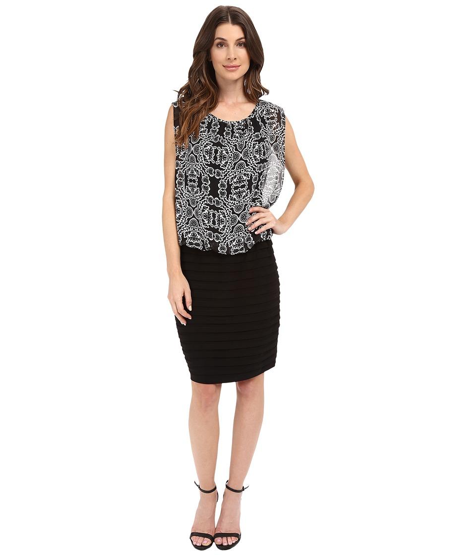 rsvp - Pistoia Blouson Dress (Black/White) Women's Dress