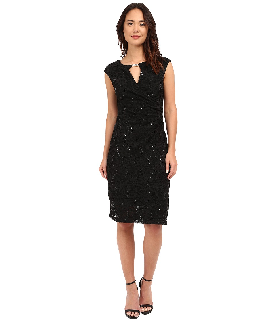 rsvp - Patricia Keyhole Dress (Black) Women's Dress