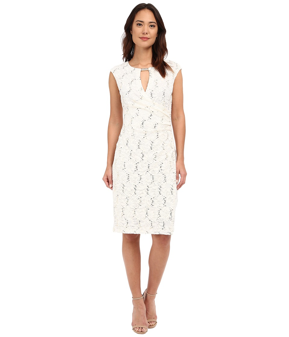 rsvp - Patricia Keyhole Dress (Ivory) Women's Dress