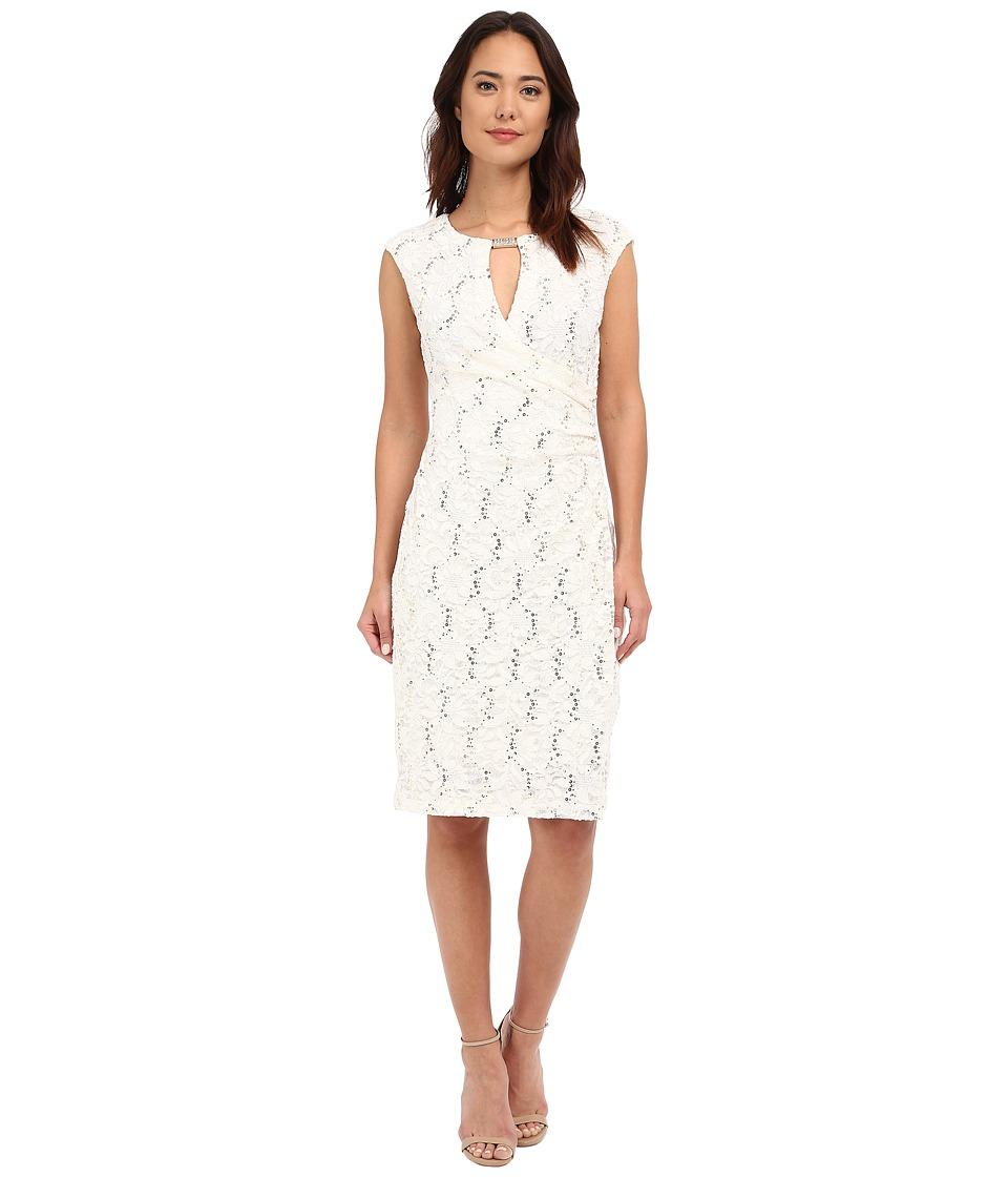 rsvp - Patricia Keyhole Dress (Ivory) Women's Dress