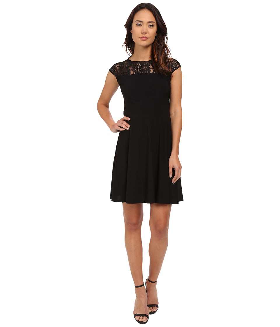 rsvp Rimini Cap Sleeve Dress (Black) Women