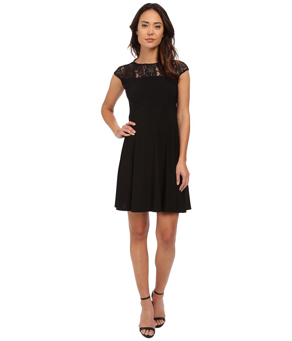rsvp - Rimini Cap Sleeve Dress (Black) Women's Dress