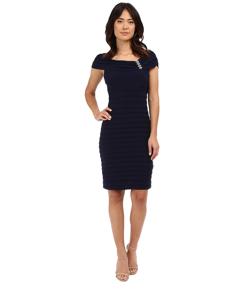 rsvp - Carrara Shutter Dress (Navy) Women's Dress