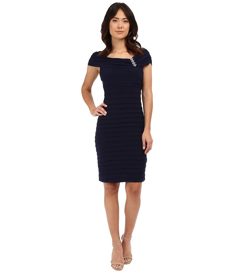 rsvp - Carrara Shutter Dress (Navy) Women's Dress