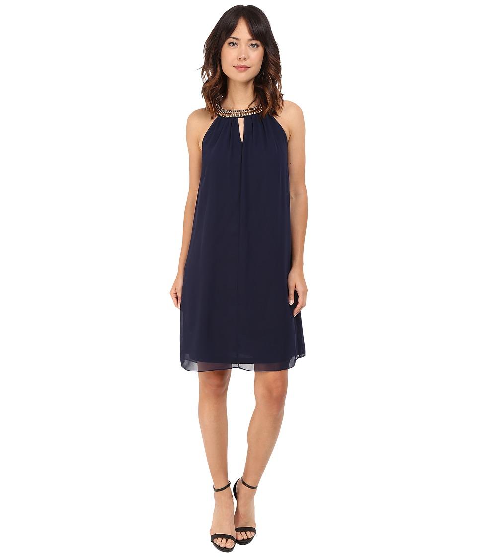 rsvp - Cremona Embellished Dress (Navy) Women's Dress