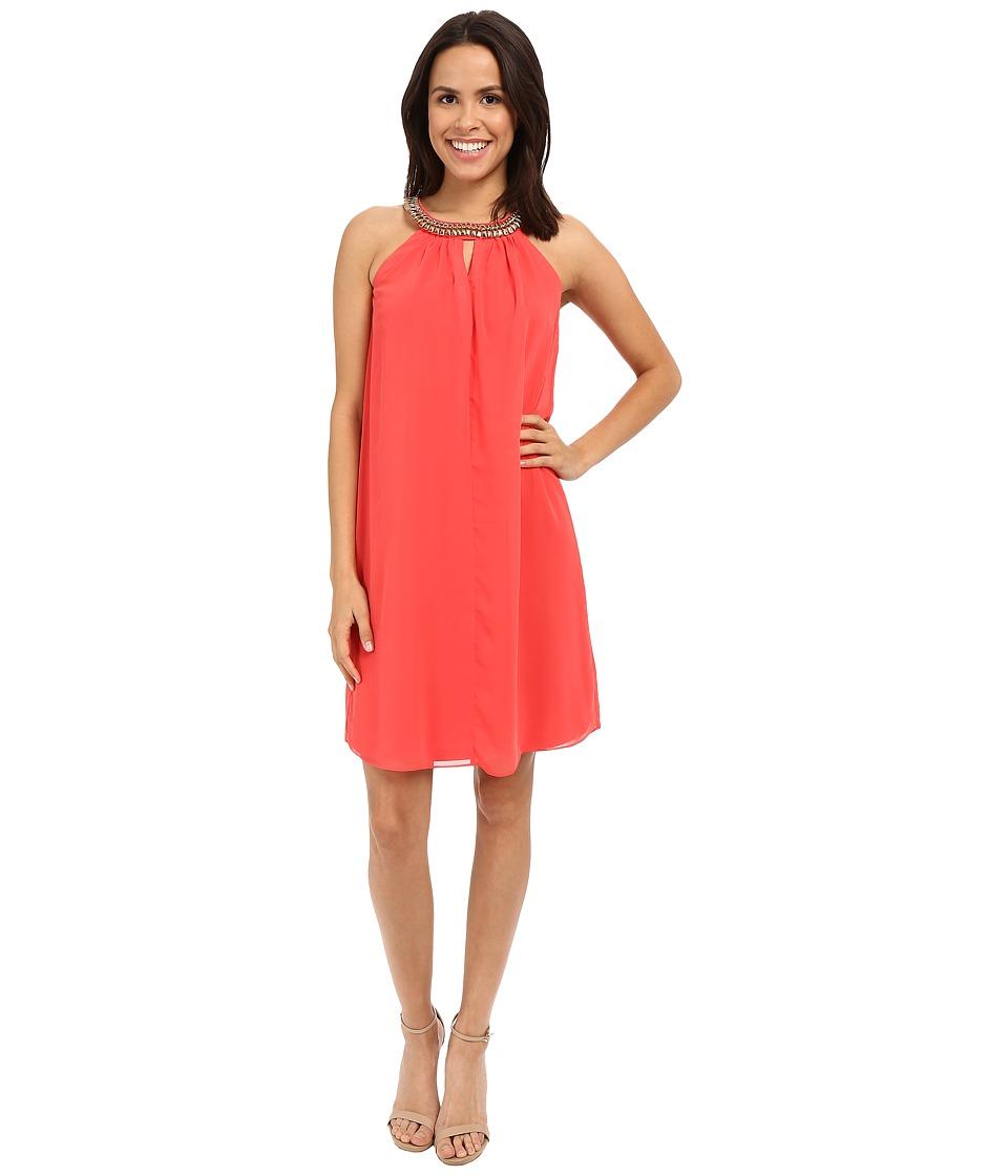 rsvp - Cremona Embellished Dress (Coral) Women's Dress