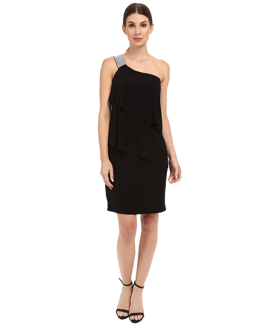rsvp Asti One Shoulder Dress (Black) Women