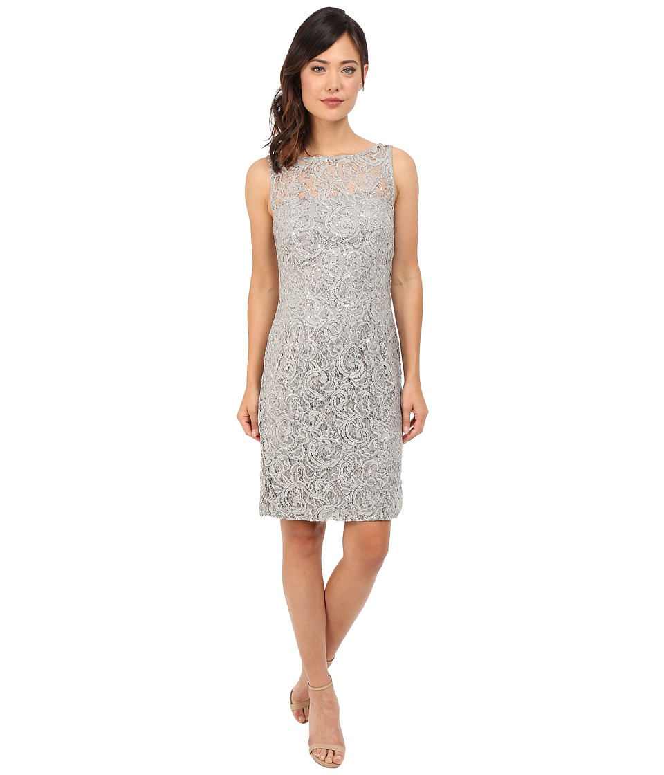 rsvp - Casoria Lace Dress (Silver) Women's Dress