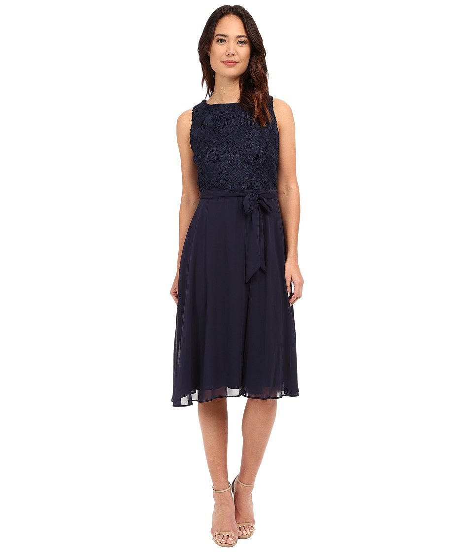 rsvp - Veronica Lace Top Dress (Navy) Women's Dress