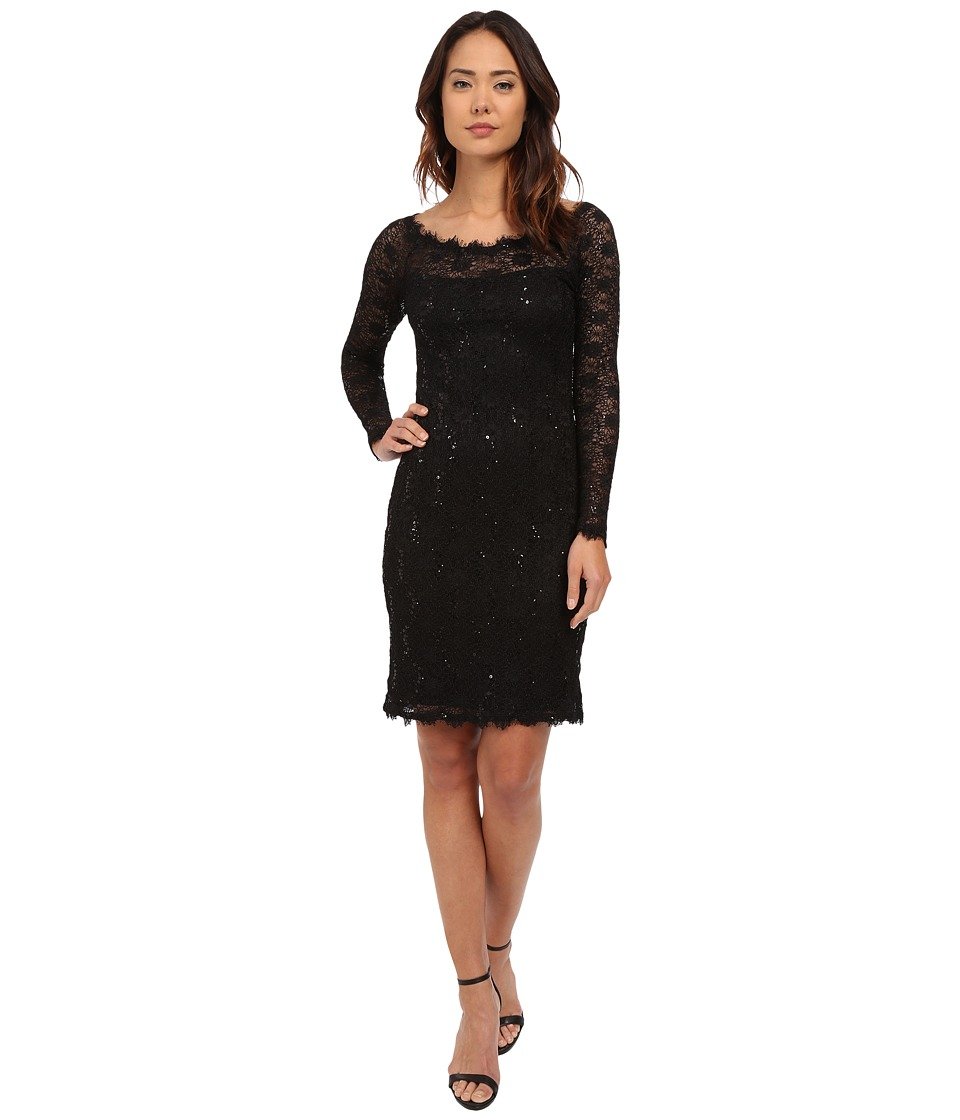 rsvp - Modena Lace Dress (Black) Women's Dress
