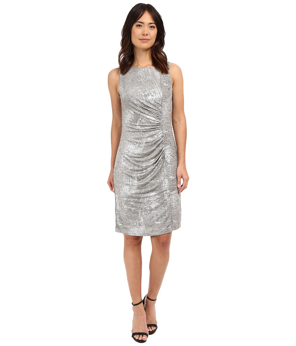 rsvp - Massa Ruched Dress (Silver) Women's Dress