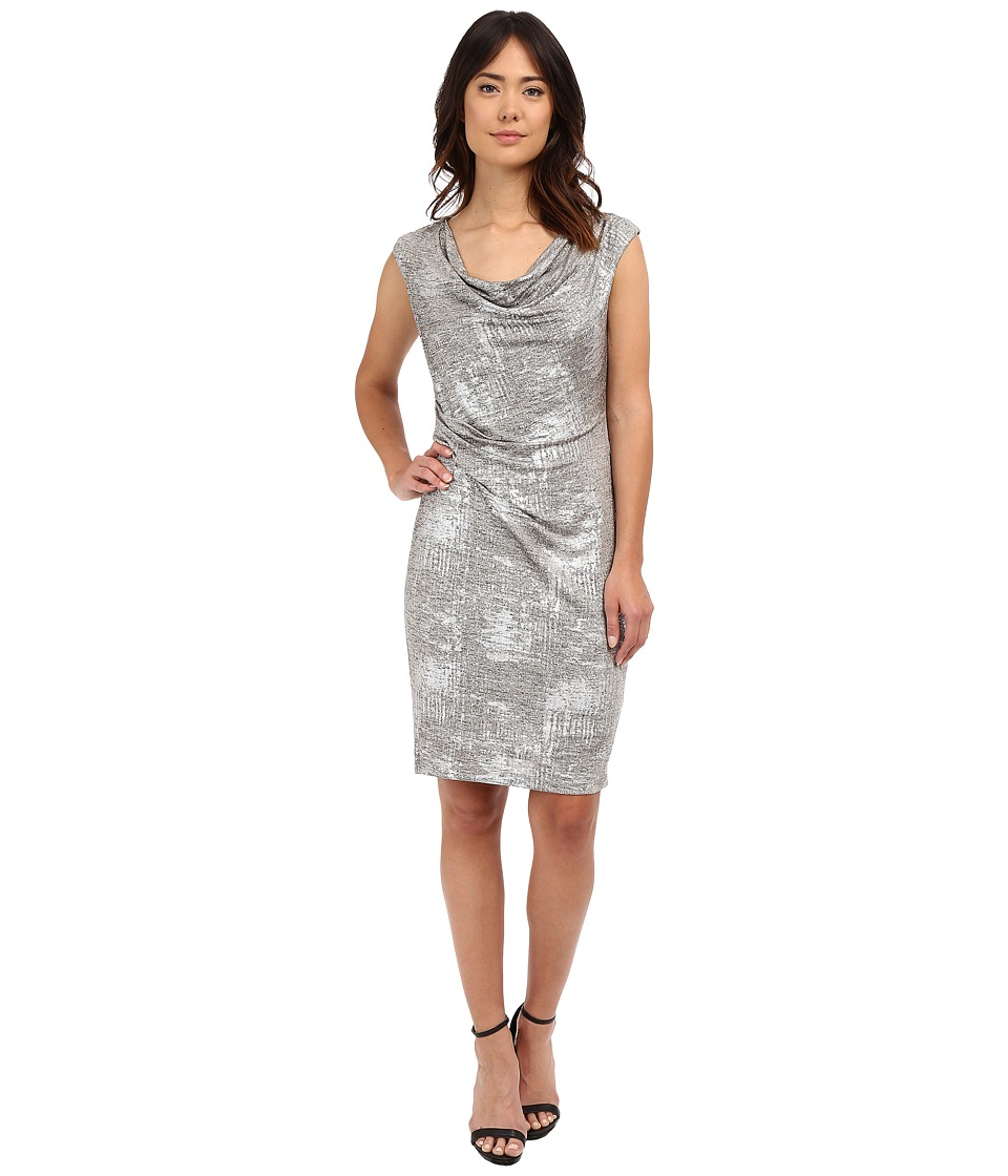 rsvp - Trapani Draped Dress (Silver) Women's Dress