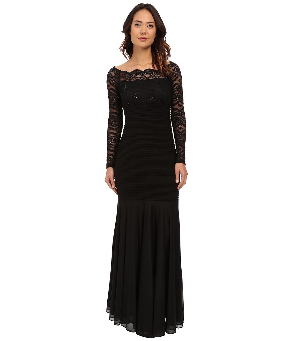 rsvp - Livorna Gown w/ Lace (Black) Women's Dress