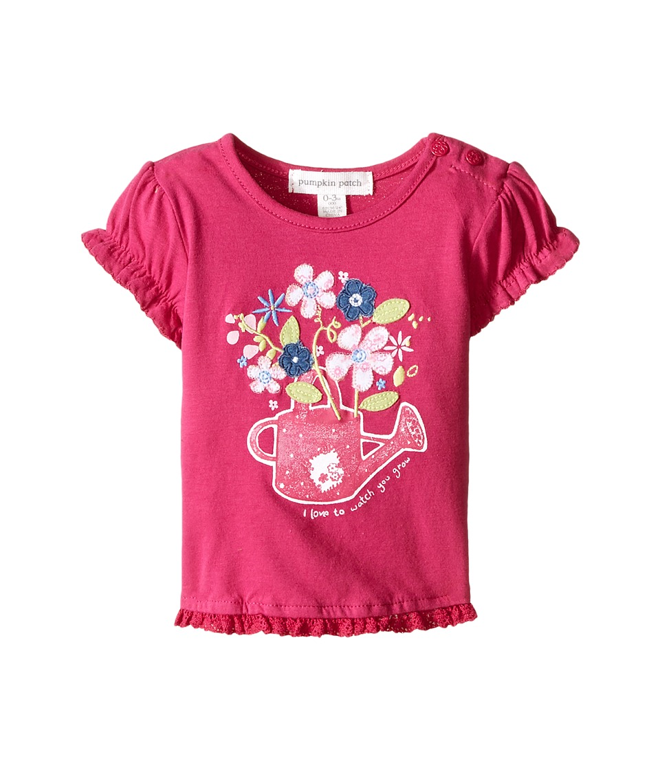 Pumpkin Patch Kids - Sweet Pea Short Sleeve Top (Infant) (Raspberry) Girl's Clothing