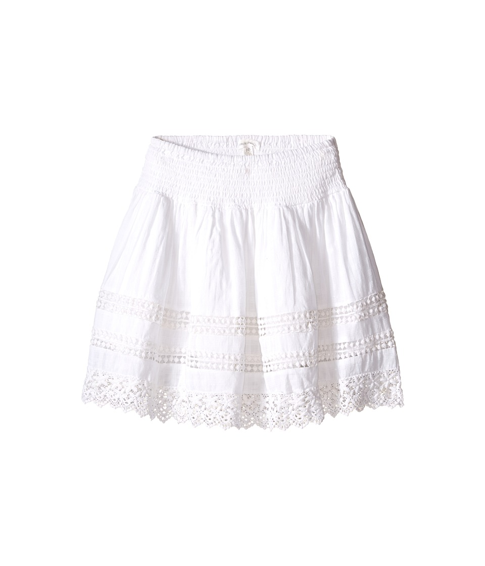 Pumpkin Patch Kids - Lace Trim Textured Skirt (Little Kids/Big Kids) (Clean White) Girl's Skirt