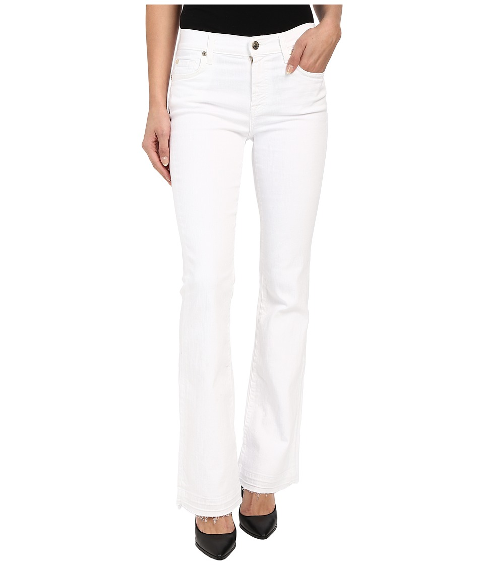 7 For All Mankind Tailorless Bootcut w/ Released Hem in White (White) Women