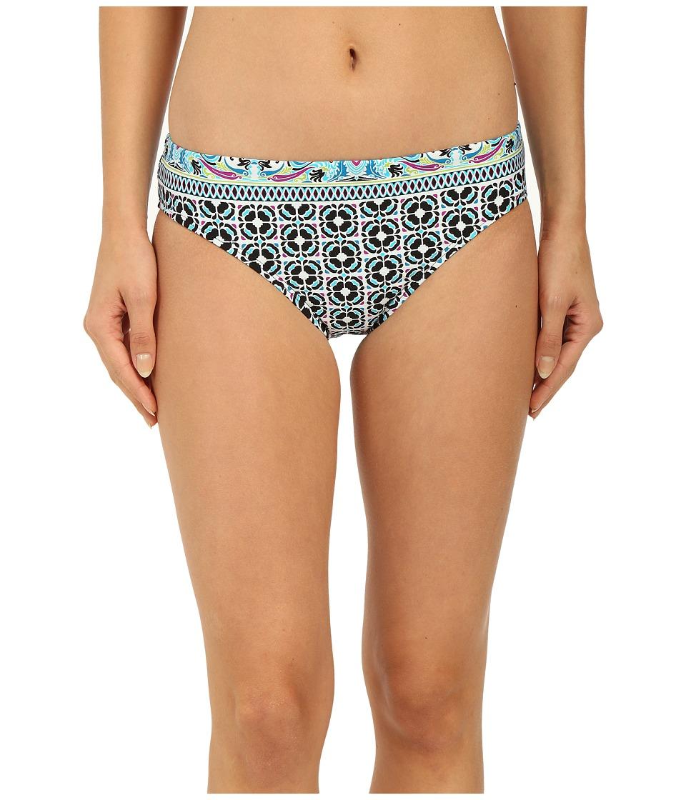 La Blanca - Tile Flora Hipster Bottom (Aqua) Women's Swimwear