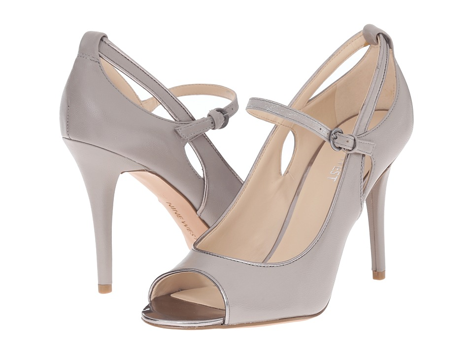 Nine West - Derby (Grey/Grey Leather) Women's Shoes