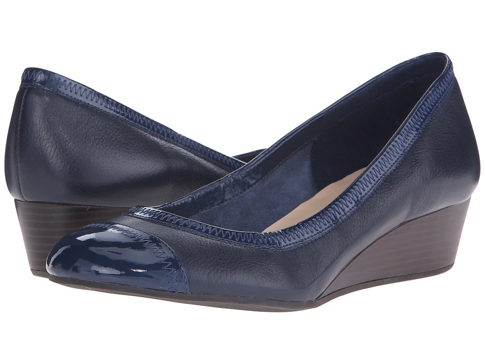 Cole Haan - Elsie Cap Toe Wedge II (Blazer Blue) Women's Wedge Shoes