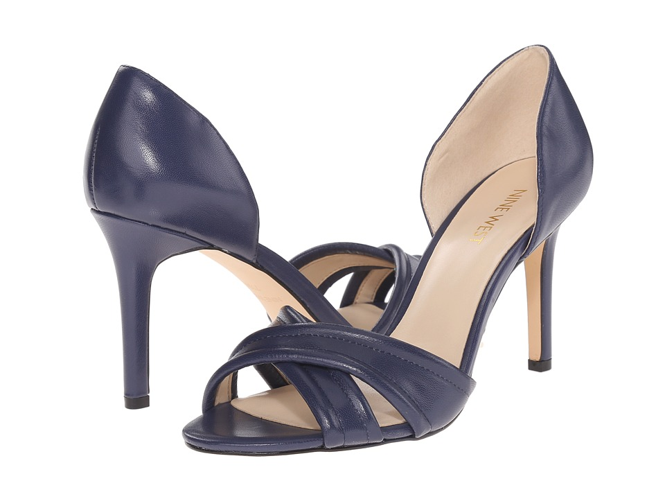 Nine West - Fortunata (Navy Leather) Women's Shoes