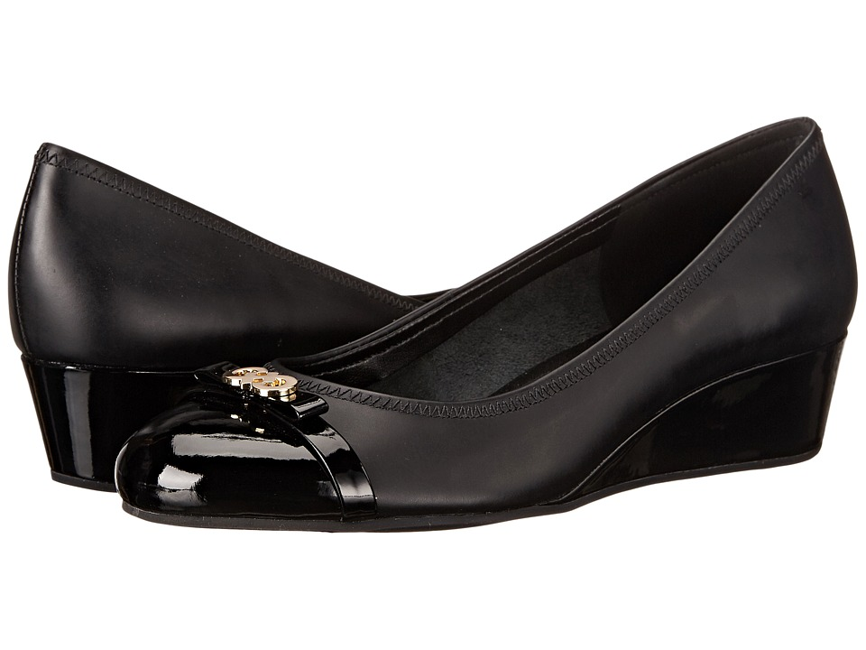 Cole Haan - Elsie Logo Wedge II (Black/Patent) Women's Wedge Shoes
