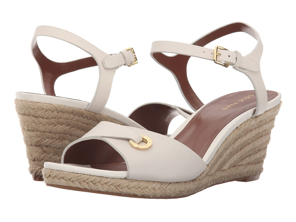 Cole Haan - Arlette Wedge II (Ivory Leather/Chestnut Leather/Jute) Women