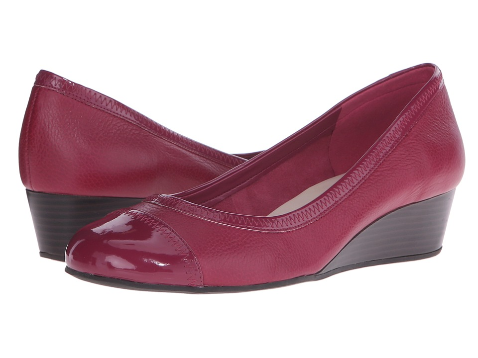 Cole Haan - Elsie Cap Toe Wedge II (Beet Red/Beet Red Patent) Women's Wedge Shoes