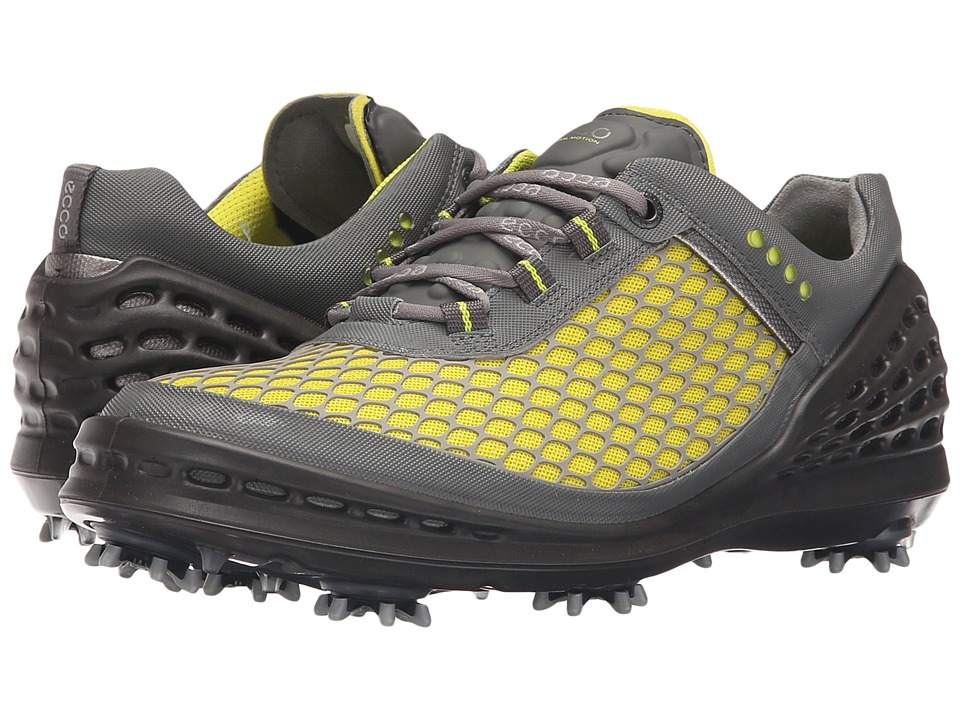 ECCO Golf - Evo Cage (Sulphur-Concrete/Black) Men's Golf Shoes
