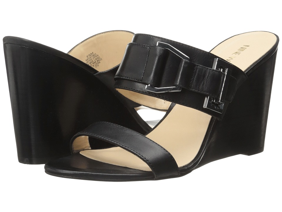 Nine West - Funtimes (Black Leather) Women's Shoes