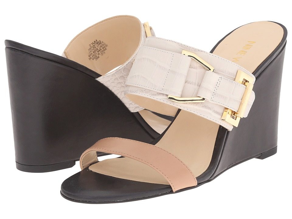 Nine West - Funtimes (Off-White Multi Croco) Women's Shoes