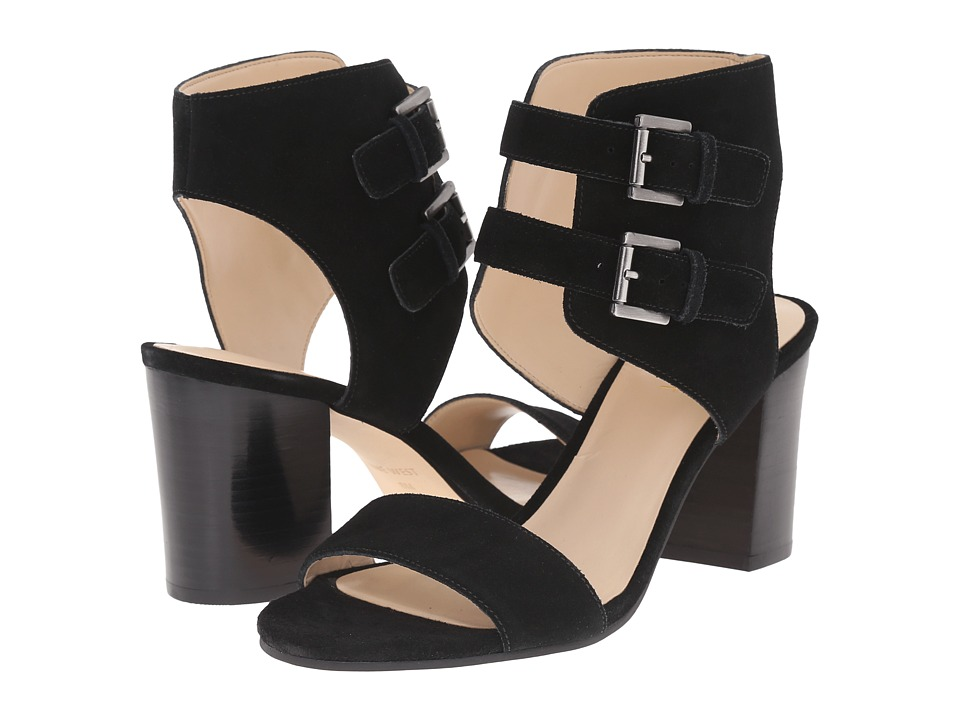 Nine West - Galiceno (Black Suede) High Heels