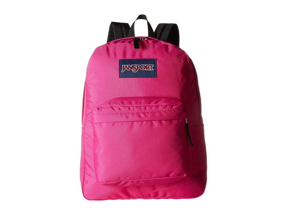 JanSport - SuperBreak (Cyber Pink) Backpack Bags