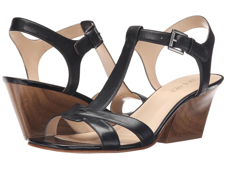 Nine West - Geralda (Black Leather) High Heels