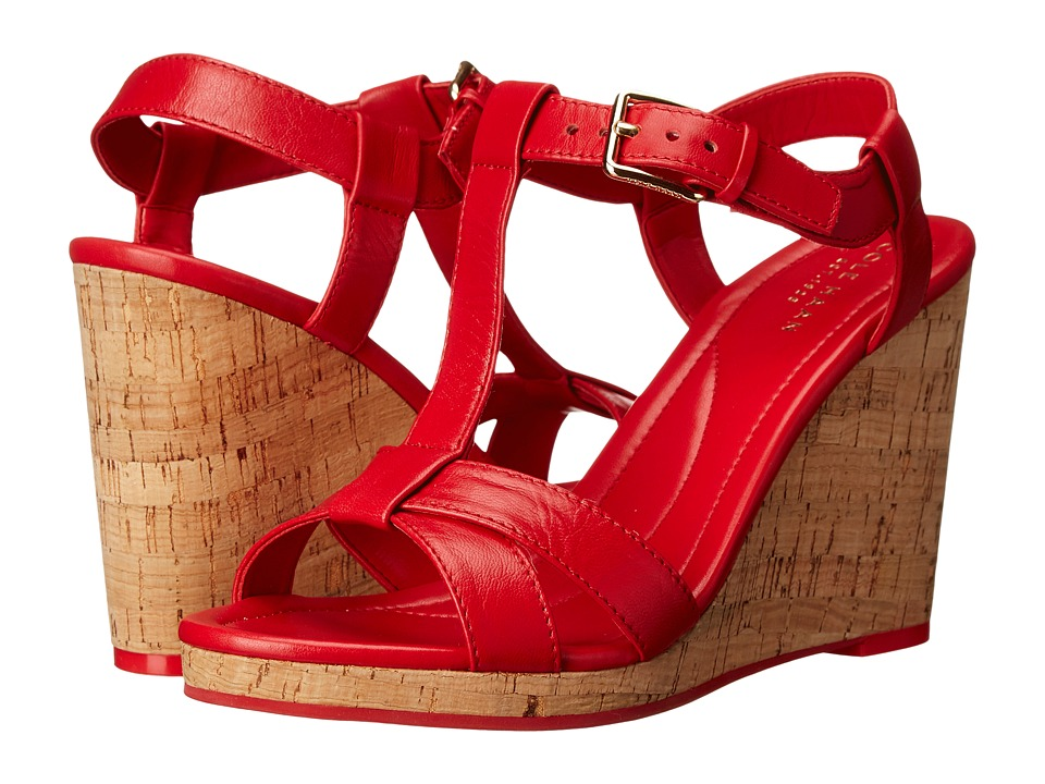 Cole Haan - Ayla Wedge II (True Red) Women's Wedge Shoes