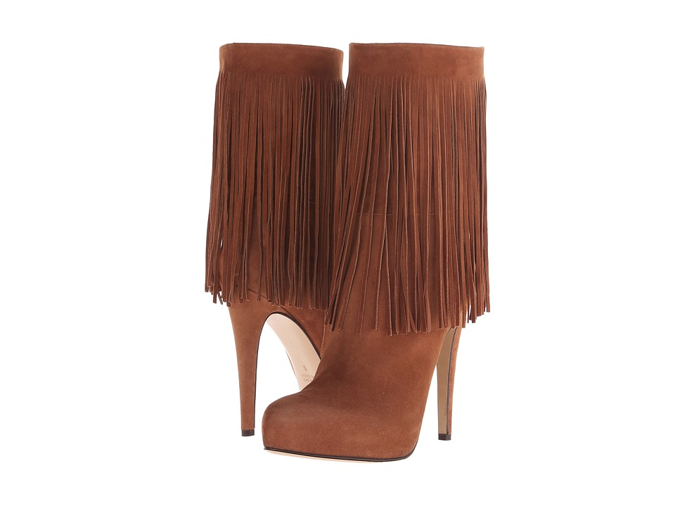 Massimo Matteo - Boot with Fringes (Cacau) Women's Pull-on Boots