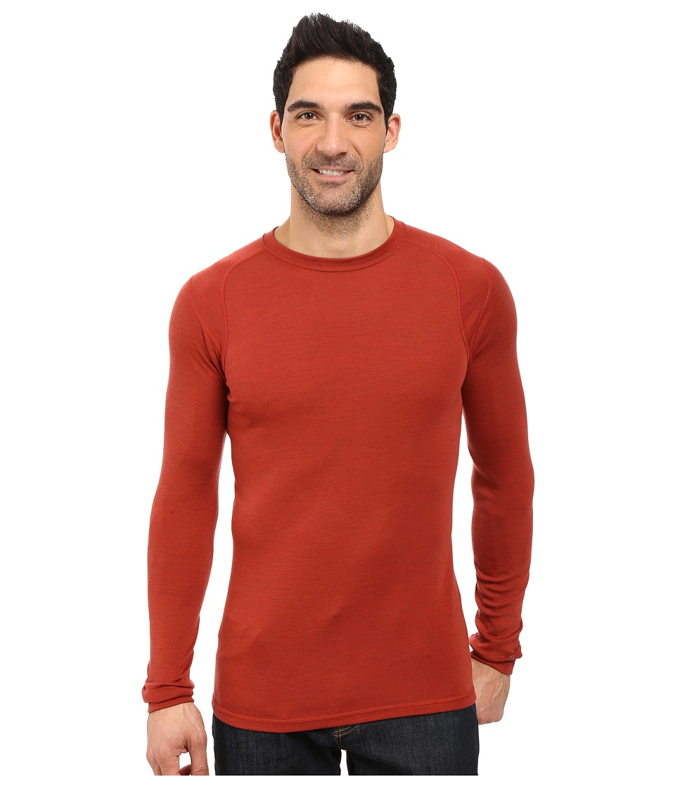 Smartwool - NTS Mid 250 Crew Top (Moab Rust Heather) Men's Long Sleeve Pullover