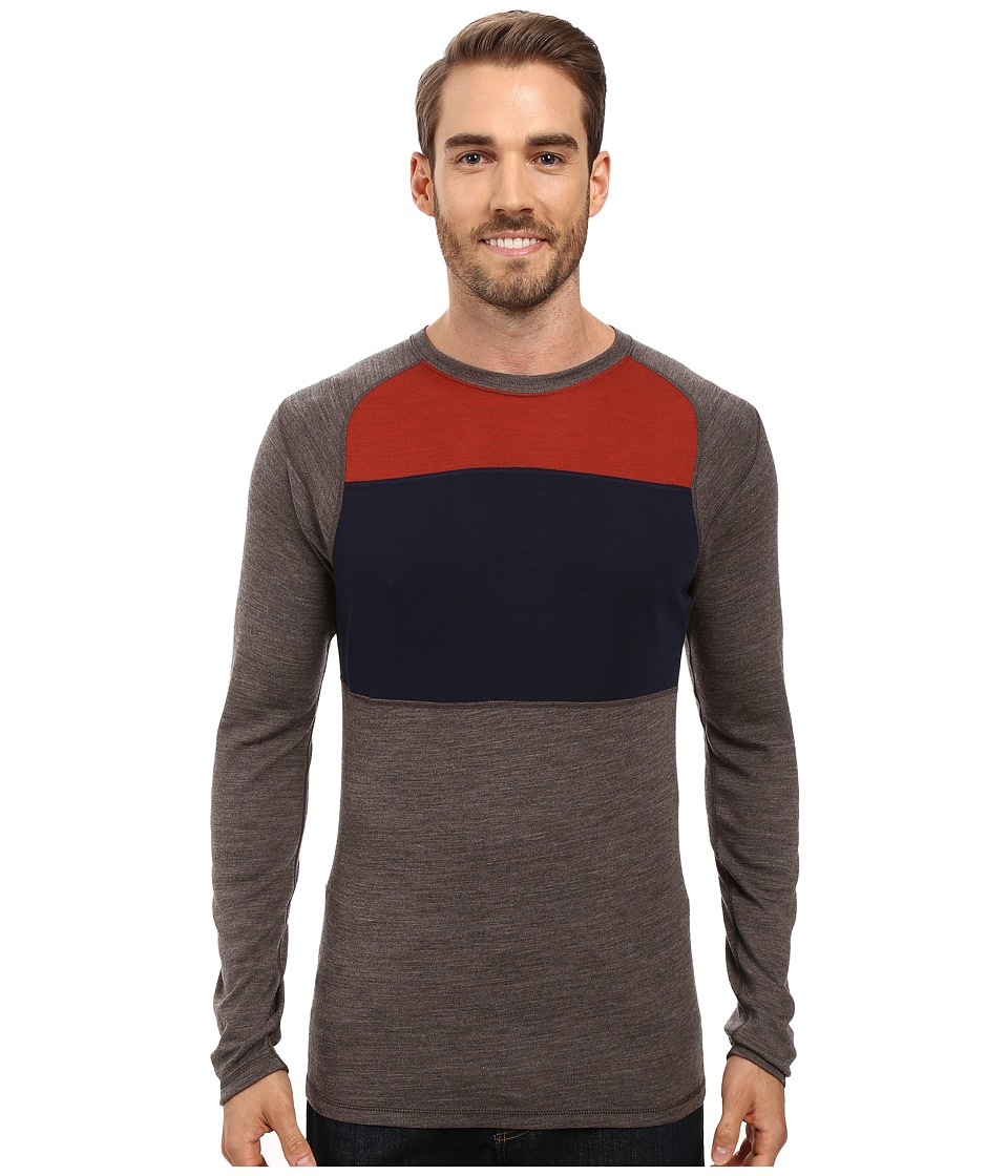 Smartwool - NTS Mid 250 Color Block Crew Top (Taupe Heather) Men's Sweater