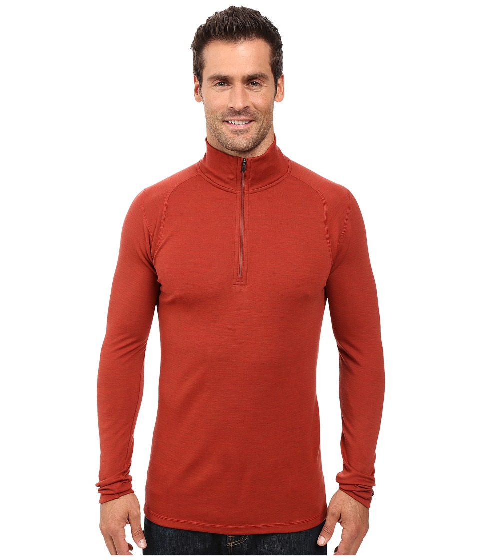 Smartwool - NTS Mid 250 Zip T Top (Moab Rust Heather) Men's Long Sleeve Pullover