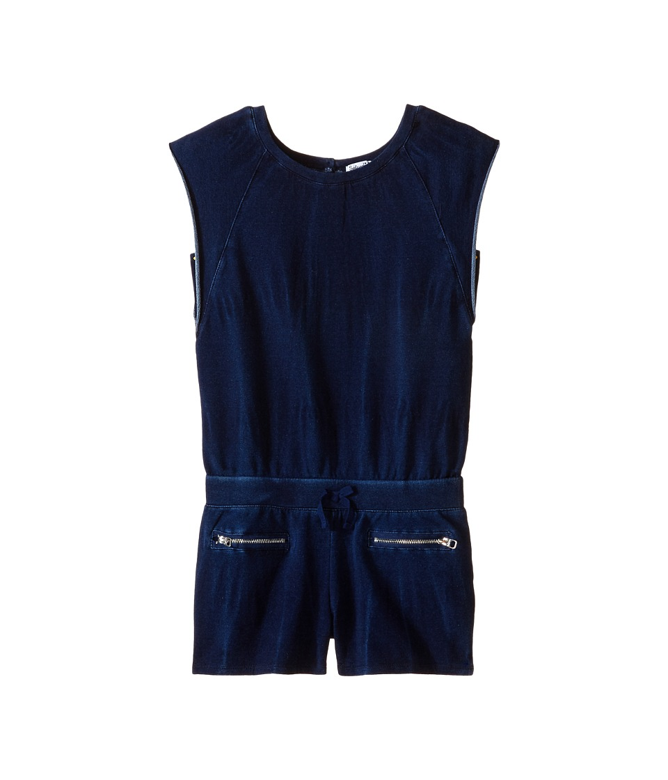 Splendid Littles - Indigo Baby French Terry Romper (Big Kids) (Indigo) Girl's Jumpsuit & Rompers One Piece