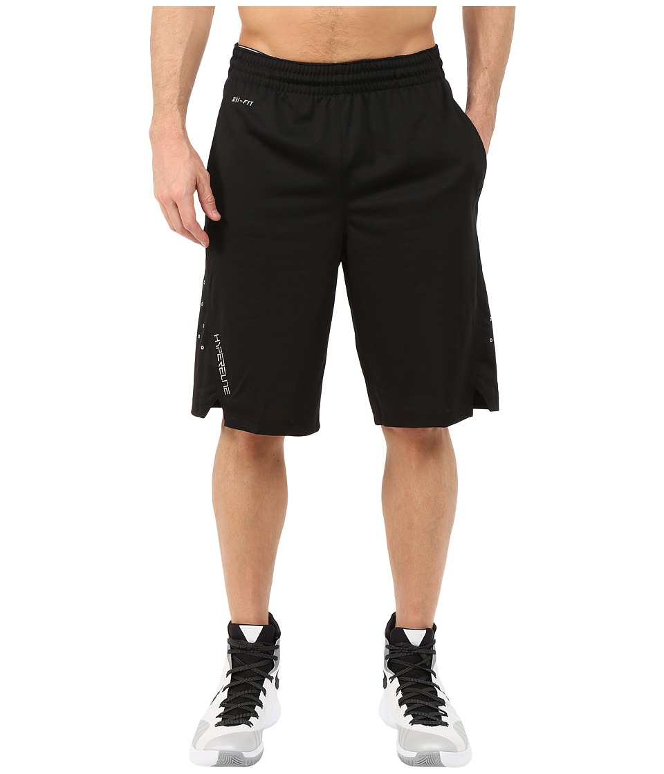 Nike - Hyperelite Power Short (Black/Metallic Silver) Men