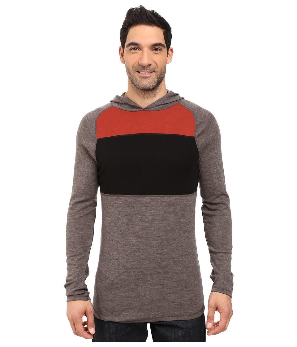 Smartwool - NTS Mid 250 Color Block Hoodie (Taupe Heather) Men's Sweatshirt