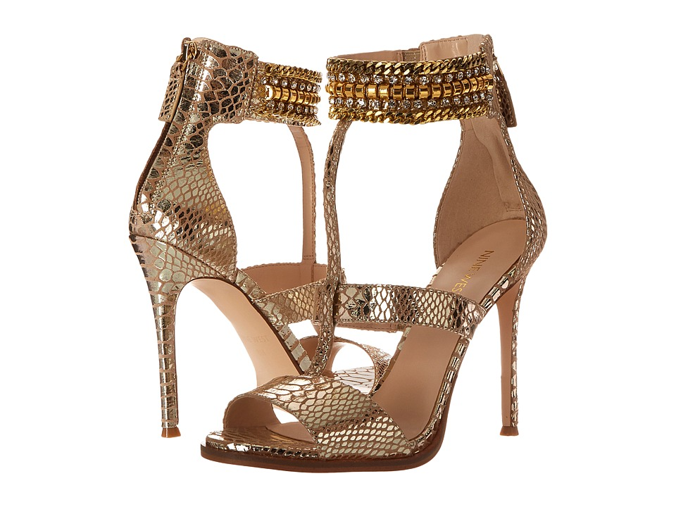 Nine West - Halonia (Light Gold Metallic) High Heels