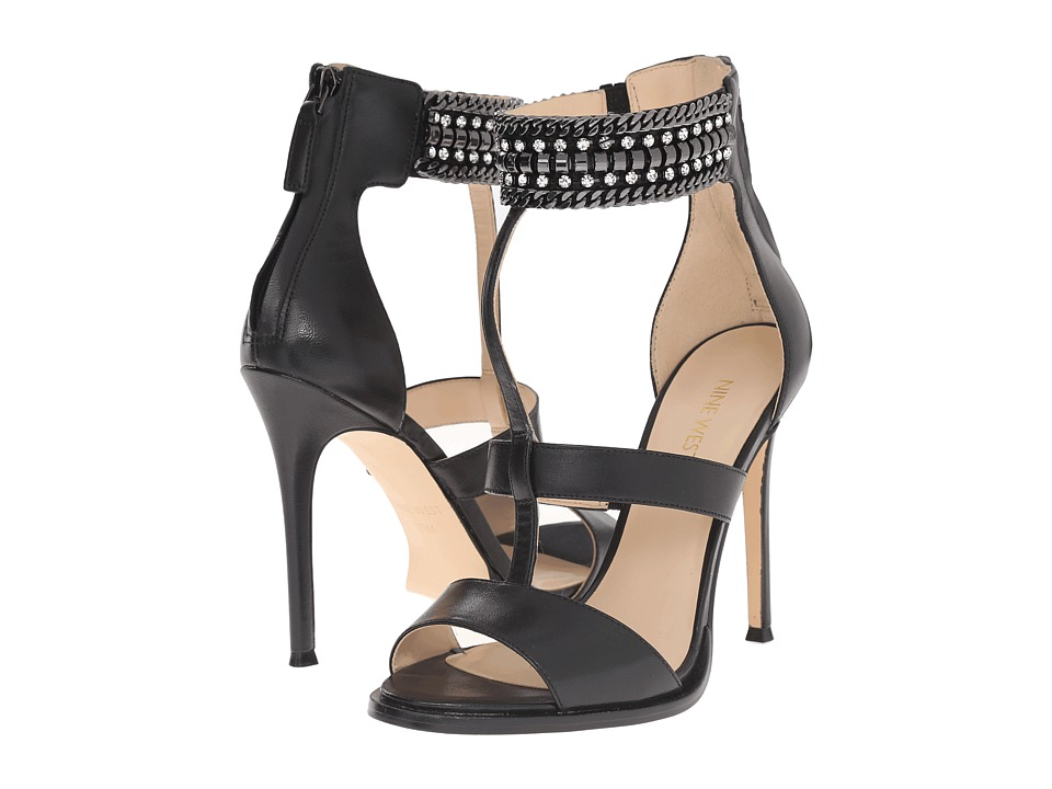 Nine West - Halonia (Black Leather) High Heels