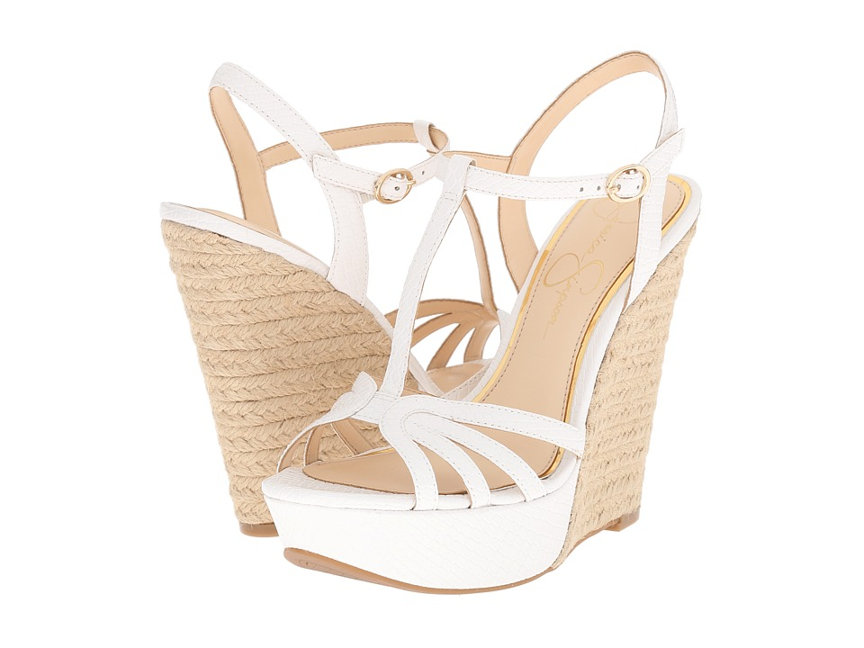 Jessica Simpson - Bevin (Powder Embossed Reptile) Women's Wedge Shoes